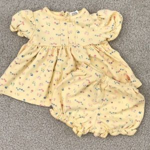 Baby yellow floral dress